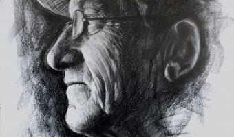 H.H., Kohlezeichnung, 2014., 40x60 cm