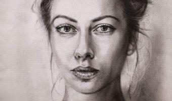 Beispiel 8 Porträt trockener Pinsel