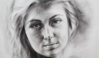 Beispiel 1 Porträt trockener Pinsel