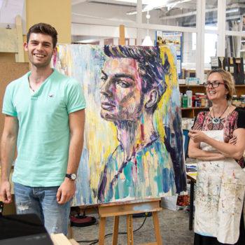 Portrait-Live-Vorfuehrung bei Boesner